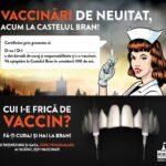 Acești idioți care ne conduc. Promovarea vaccinării la Castelul Bran cu o doctoriță vampiroaică și seringi în loc de colți. O campanie realizată sub auspiciile primului ministru Florin Cîțu. Sperăm să se programeze tot Guvernul!