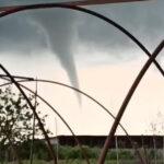 O tornadă care nu a atins pământul a fost văzută în județul Constanța